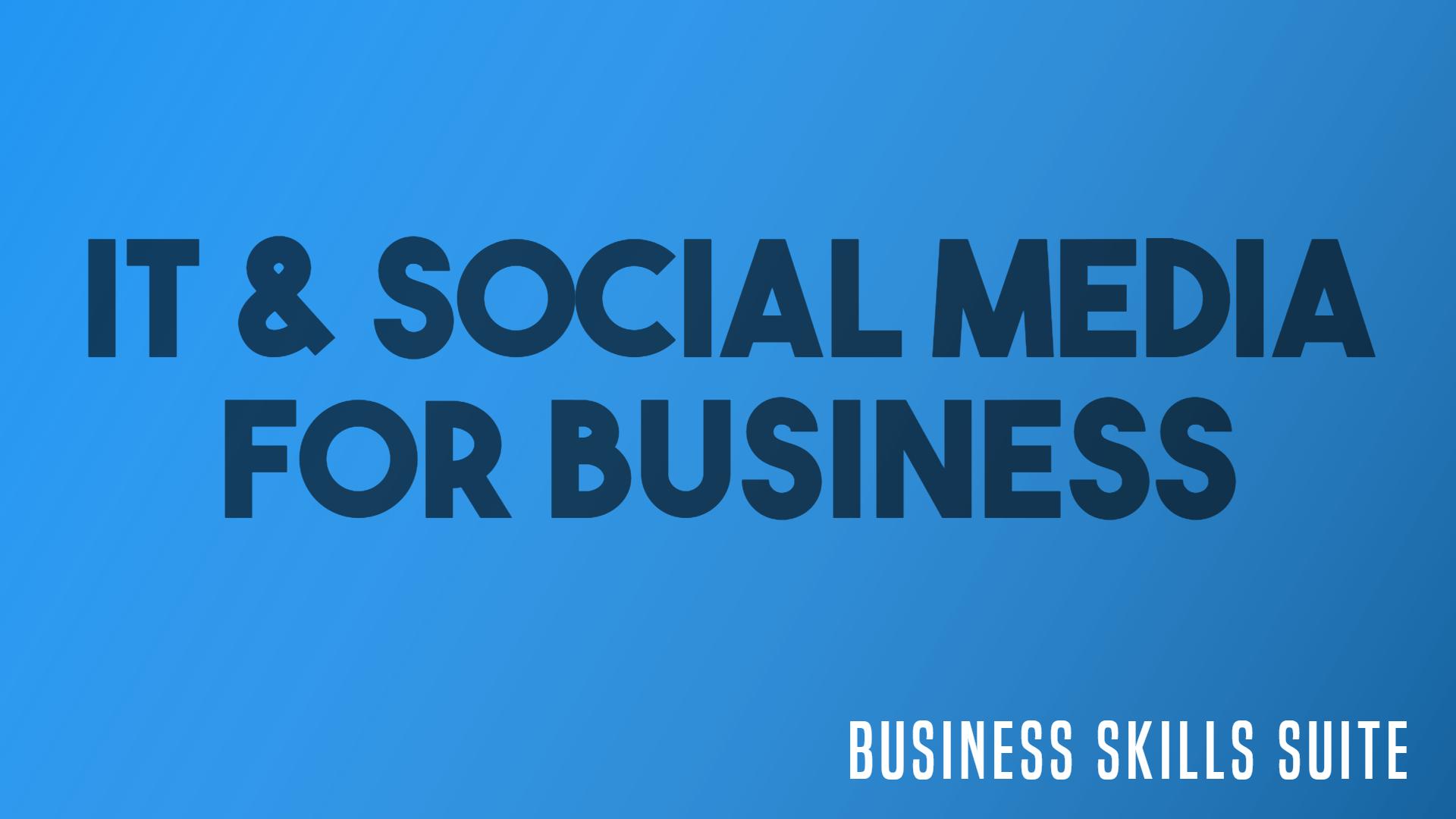 it & social media for business